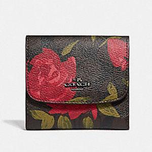 Coach Floral Camo Rose Wallet NWT